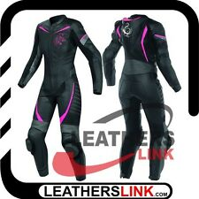 Women Motorcycle Motorbike Racing Biker Leather  Suit MST-005-A(USA 18,20,22)