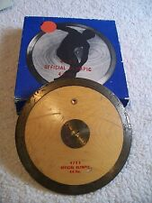VINTAGE 4703 OFFICIAL OLYMPIC WOOD & BRASS DISCUS 4.4 LBS 2KG 9 INCHES, REAL ONE