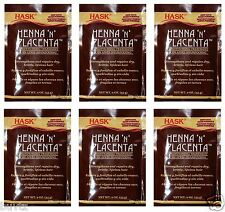 6 Pack HASK HENNA 'N' PLACENTA Hair Conditioning Treatment Strengthens & Repairs
