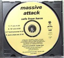Massive Attack Safe From Harm 4 Track Promo CD * PRCD 4014 *
