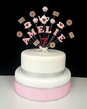Tea party decorazione di topper torta compleanno, personalizzato ogni nome e età
