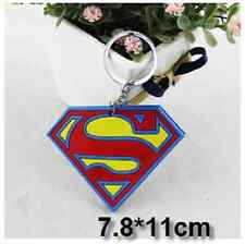 Avengers Double Sided Superman Rubber Key ring Phone Charm Strap Gift Idea
