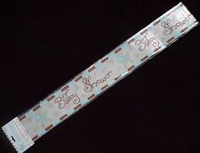 4 x foil  BABY SHOWER BANNERS WALL BANNERS / SASH  / PARTY TIME / BABY BOY PRAM