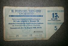 *Rar* Ticket 1959 Wiener SK SC Lok Leipzig Eintrittskarte Wien Österreich