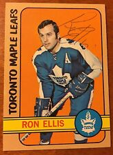 1972-73 RON ELLIS AUTOGRAPHED HOCKEY CARD,Toronto Maple Leafs, 4X ALL-STAR