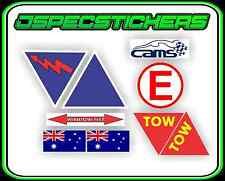 CAMS RACING STICKERS RACE CAR SAFETY DECAL EMERGENCY STOP BATTERY TOW RALLY NEW