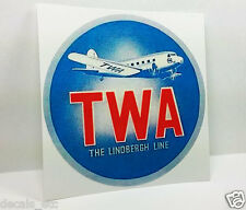 TWA Trans World Airlines Vintage Style Decal / Vinyl Sticker, Luggage Label