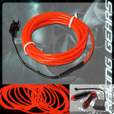 For Mitsubishi Neon 12v Red LED Electroluminescent EL Wire Flexible Glow Rope