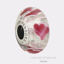 Authentic Pandora Sterling Silver Wild Hearts Murano Bead 791649