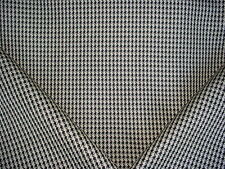 11+Y P KAUFMANN BRITANNIA JET SET BLACK HOUNDSTOOTH DRAPERY UPHOLSTERY FABRIC
