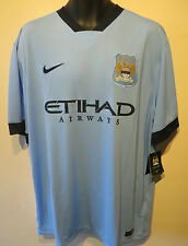 NIKE 14-15 Manchester City Football Camicia BPL SOCCER JERSEY CAMISETA MAGLIA XXL