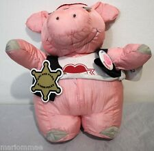 "Hallmark 13"" Pig Born To Luv Biker Squeezy Rider Plush Vest Sunglasses w/ TAG"