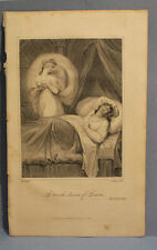 ANTIQUE PRINT ENGRAVING from The Life of Petrach 200+ yrs old DREAM OF LAURA