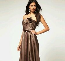 BNWT*COAST* 18(UK) ALLURE CHOCOLATE  SHORT DRESS, SILKY, BRIDESMAID WEDDING,PROM