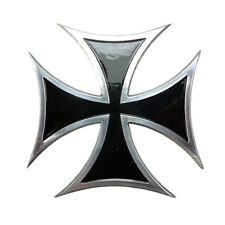 Iron Cross Billet Custom Panel/Fuel Gas Tank/Cover Badge/Emblem /Chop/Cafe Racer