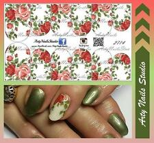 #2714 Slider design for nail art (decal stickers for gel polish, acrylic)