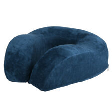 Dark Blue Travel Neck Pillow Memory Foam Soft Large U Shaped Head Rest Support