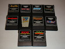 Lot of 10 Colecovision Games Mr.Do! Rocky Smurf Burgertime QBert Venture More