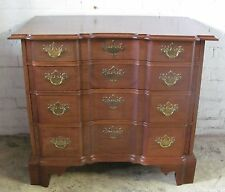 SOLID MAHOGANY BLOCK FRONT TOWNSEND GODDARD STYLED CHIPPENDALE BACHELORS CHEST