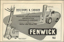 VIETNAM SAIGON PUBLICITE DESCOURS & CABAUD FENWICK ELEVATORS INDOCHINE  1953