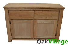 Bloomsbury Oak Large Sideboard / Storage Cupboard / Solid Wood Buffet Table