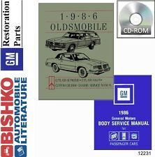 1986 Oldsmobile Custom Cruiser Cutlass Salon Supreme Service Repair Manual CD