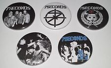 5 7 Seconds button badges Minor Threat Dead Kennedys Conflict Crass Discharge