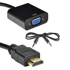 HDMI male to VGA female 3.5mm Audio Converter Adapter Cable Analog to Digital