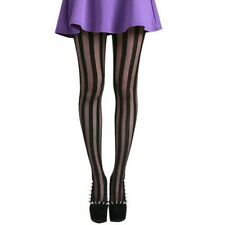 Women Gothic Punk Sexy Vertical Stripe Black Pantyhose Stockings Tights Hotsale