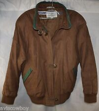 Brandon Thomas Biker Brown LEATHER Motorcycle A-2 BOMBER Lined Jacket Men's M