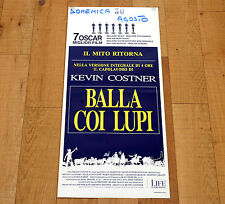 BALLA COI LUPI locandina poster affiche Dance With Wolves Kevin Costner Western