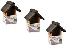 3x NEW DESIGN DELUXE TRADITIONAL WOODEN NESTING BOX BIRD NEST HOUSE DURABLE