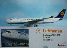 Herpa Wings 1:200 Airbus A330-300 Lufthansa Landshut 556583