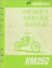 1997 SUZUKI MOTORCYCLE RM250 P/N 99011-37E51-03A OWNERS SERVICE MANUAL (794)