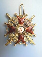 RUSSIA IMPERIAL ORDER ST.STANISLAUS MILITARY w SWORDS,COMMANDER,gold,3rd class