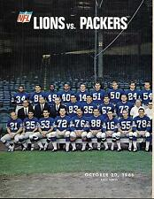1966 Detroit Lions-Packers Program Pitts Paces Packers GEM!!