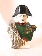 "German Porcelain Napoleon bust 10 1/2"" H (#867)"