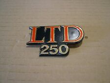 KAWASAKI KZ250 W1, '83,      SIDE COVER BADGE NEW REPRODUCTION