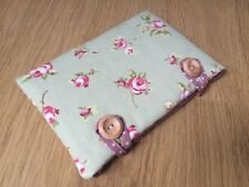Clarke and Clarke Rosebud Sage Fabric - Handmade Kindle Fire HD 6 Padded Case