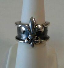 Mignon Faget Sterling Silver Fleur De Lis Ring