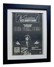 ALEX HARVEY BAND+Next+TOUR+RARE ORIGINAL 1974 POSTER AD+FRAMED+FAST GLOBAL SHIP