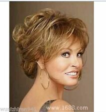 Hot Style!Fashion wig New Charm Women's Short Brown Mix Blonde Curly Full wigs