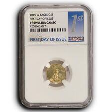 2015 W American Proof Gold Eagle NGC PF69 FDOI 1/10th oz Proof Gold $5 Coin
