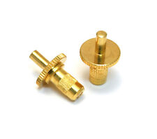 "(2) Gold ""Nashville"" Bridge Studs w/Body Inserts for USA Gibson® BP-0390-002"