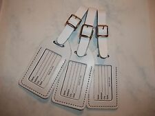 75 WHITE Genuine leather,NO QUOTE  wedding, luggage tags $1.60 each.