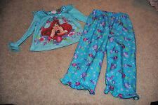 DISNEY PRINCESS LITTLE MERMAID Girls Size 24 M Pajama Set