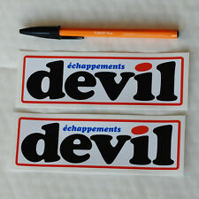 devil échappements exhaust stickers decal 148mm pair Alpine Renault Rally A110
