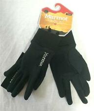 Marmot Power Stretch Glove Black with Silver Stitching Unisex Large NEW
