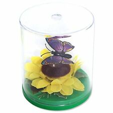 Desk Toys -1 Magnetic Floating Butterfly over a Sunflower Solar Toy Springtime
