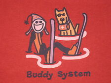 LIFE IS GOOD WOMENS L/S BUDDY SYSTEM T- SHIRT SIZE M